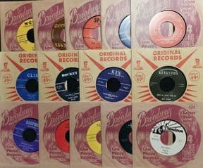 45Re✦RARE 50s ROCKABILLY LOT OF 14 REPROS✦ Fantastic Collector Unplayed Records♫